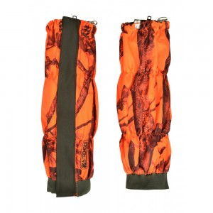 Percussion Stronger Ghostcamo Blaze and Black hunting gaiters
