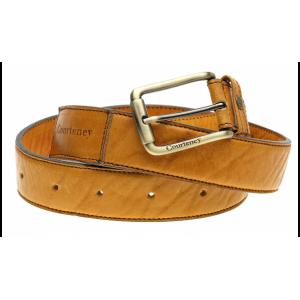 Courteney Belt in honey leather